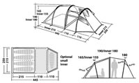 Cyclo camping - Tent Robens Midnight Dreamer - PLAN